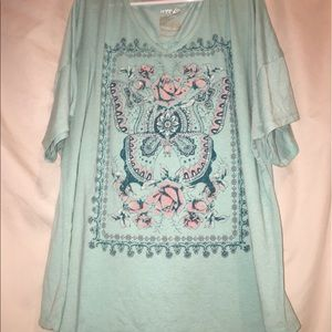 Butterfly top - size 4x